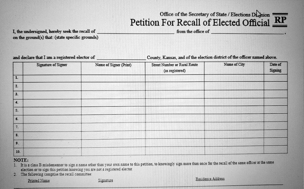 Voters can request a recall of an elected official, but it takes time.