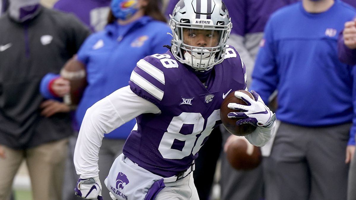 Kansas State wide receiver Phillip Brooks returns a punt for a touchdown during the first half...