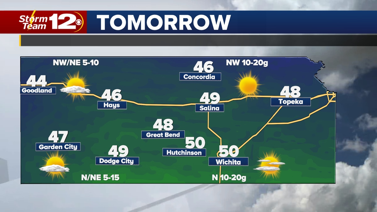 A cold front will move through the state tonight, putting an end to the spring-like temps in...