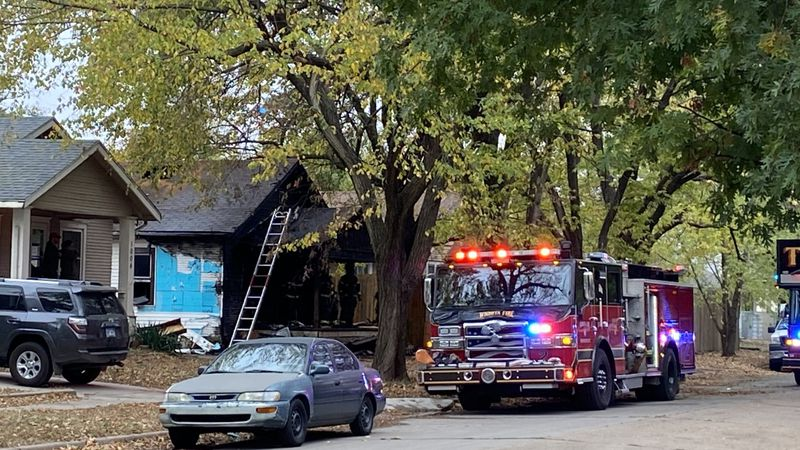 One person is seriously hurt after a house fire in south Wichita.