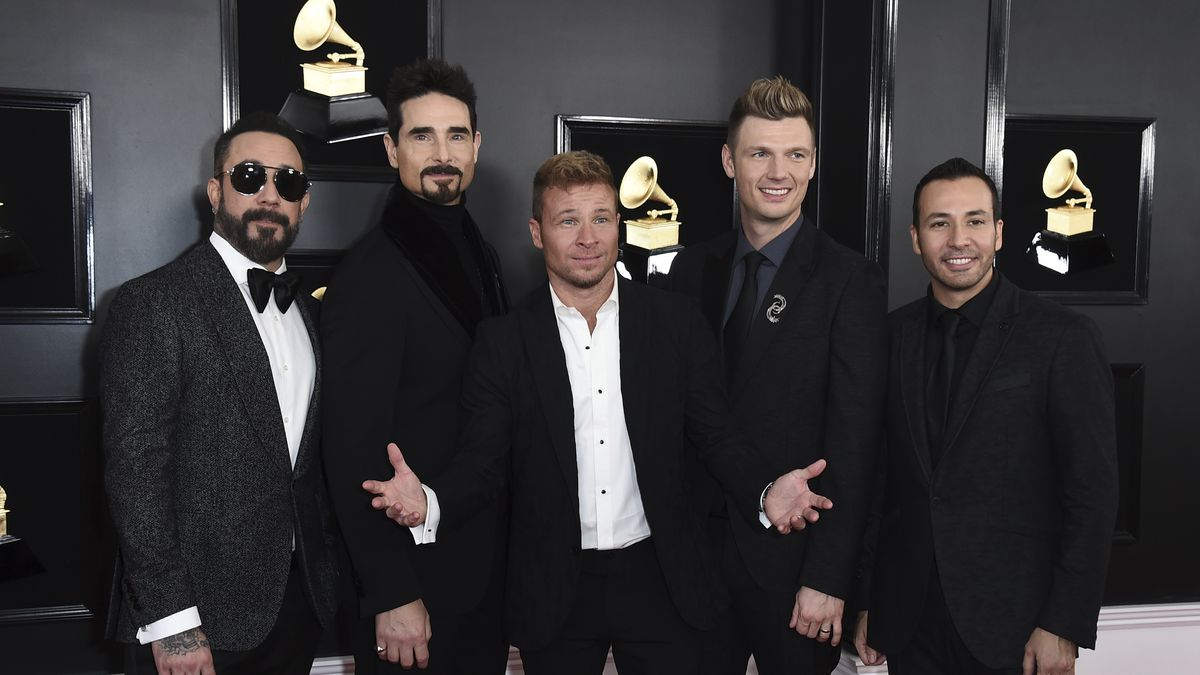 AJ McLean, from left, Kevin Richardson, Brian Littrell, Nick Carter, and Howie Dorough of The Backstreet Boys arrive at the 61st annual Grammy Awards at the Staples Center on Sunday, Feb. 10, 2019, in Los Angeles. (Photo by Jordan Strauss/Invision/AP)