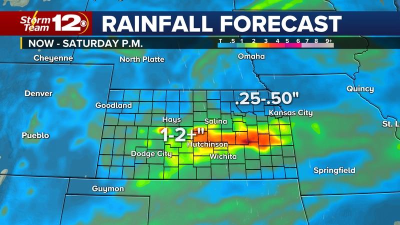 Soaking rains impact Kansas in the coming days