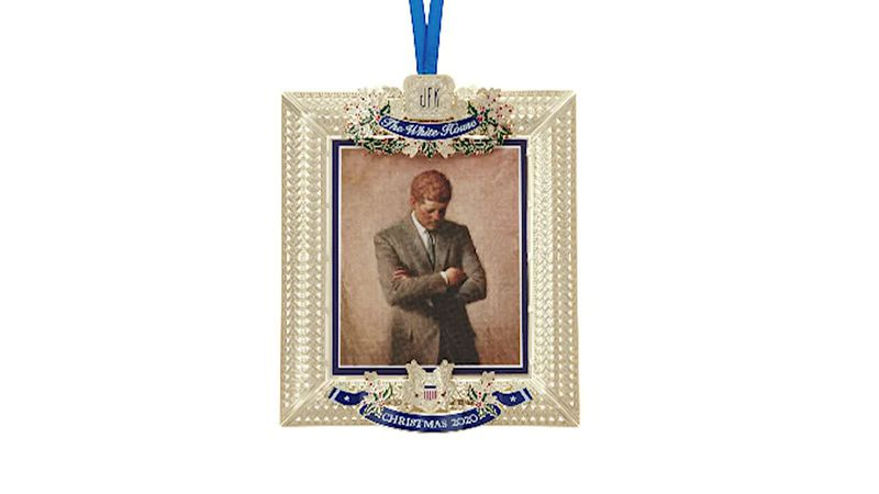 President John F. Kennedy is being honored with an official White House Christmas ornament.
