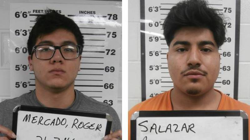 Neodesha Police arrested and booked Roger Mercado and Alejandro Salazar into the Wilson County...