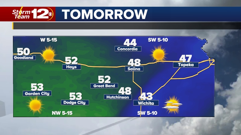 After starting the new year with snow in south central Kansas, sunshine and warmer temps will...