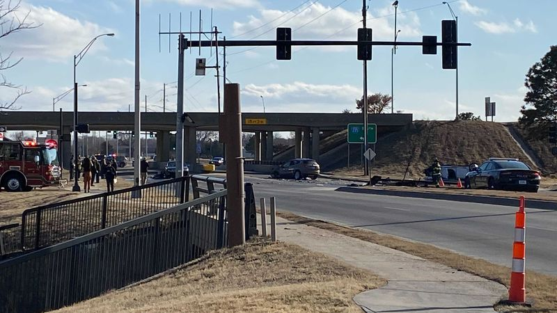 One person died Friday afternoon and two others were critically hurt in a crash at I-235 and...