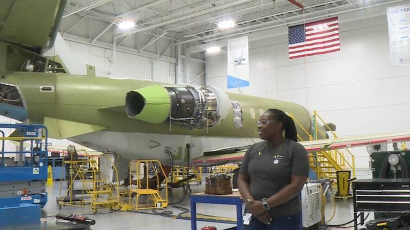 Textron Aviation employee in Wichita, Kan.