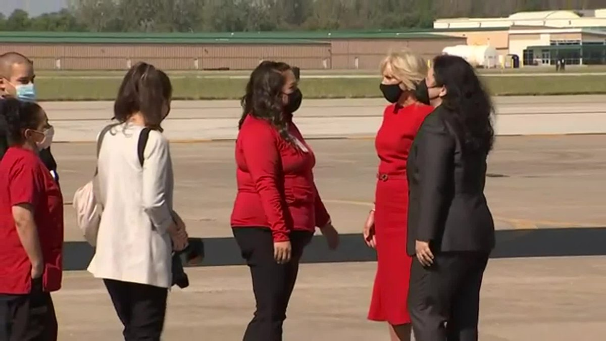 First Lady of the United States, Dr. Jill Biden visited Kansas City, Kan. on Tuesday. She met...