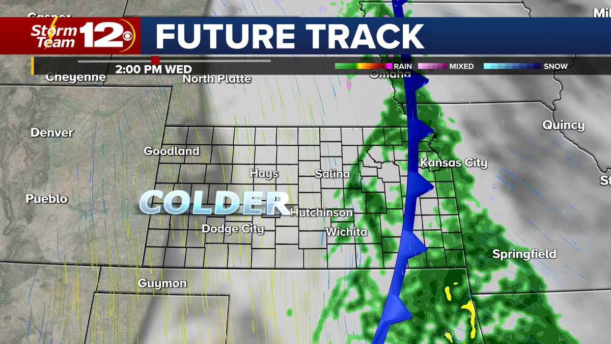 Chances for showers will return for midweek.