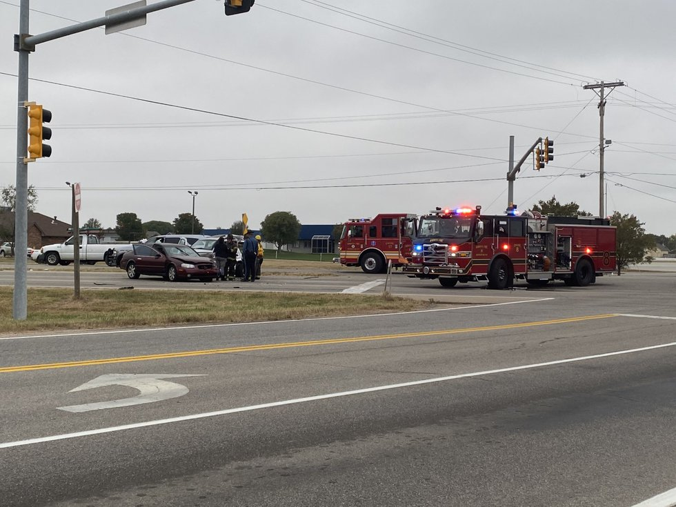 One person is critically hurt in a two-vehicle crash near Schulte in Sedgwick County.