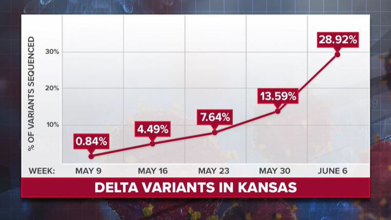 The Delta Variant was first identified in India. It is becoming more visible in Kansas