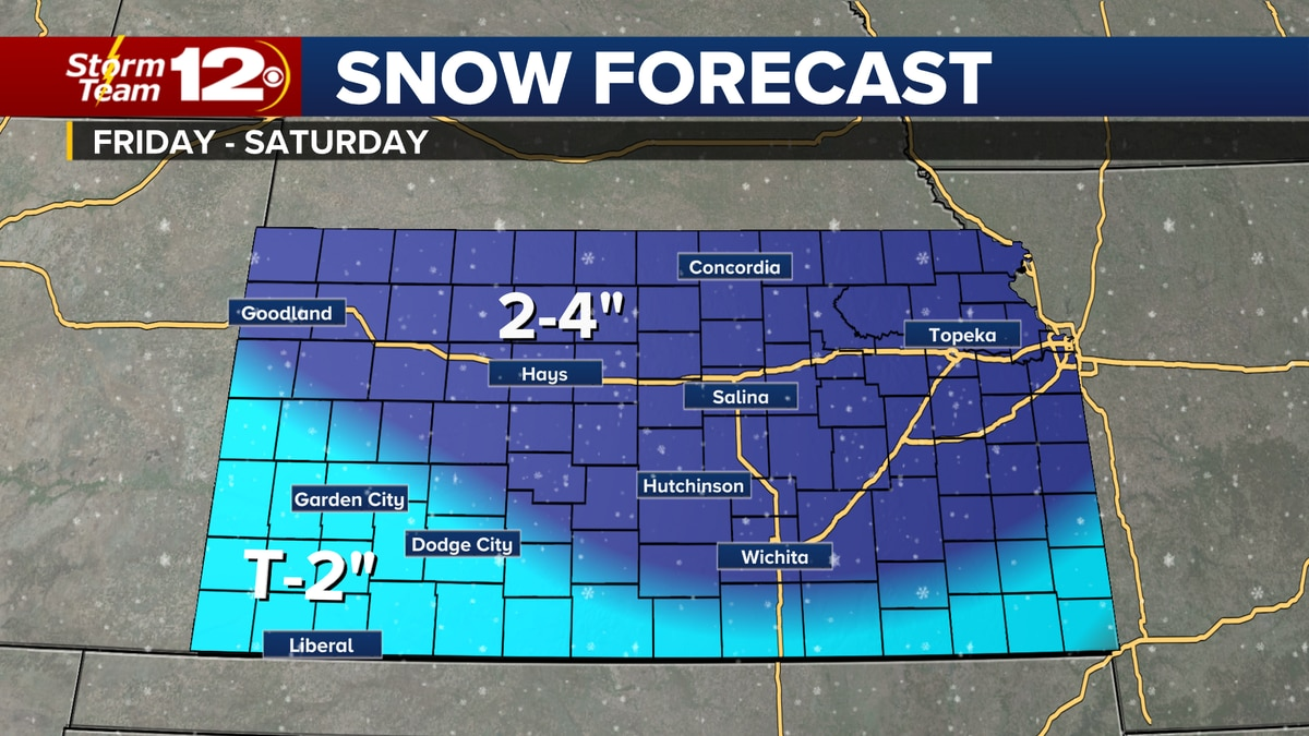 Snow chances will increase by the end of the week.
