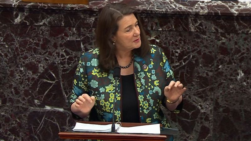 House impeachment manager Rep. Diana DeGette, D-Colo., speaks during the second impeachment...