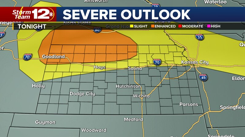 Storms could become severe in northern Kansas tonight, it's going to be hot for Father's Day,...