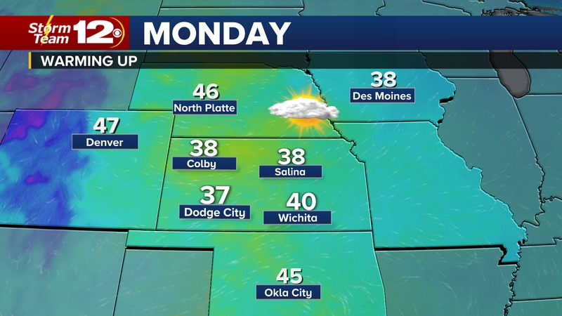 After a chilly weekend, we'll get warmer for the workweek.