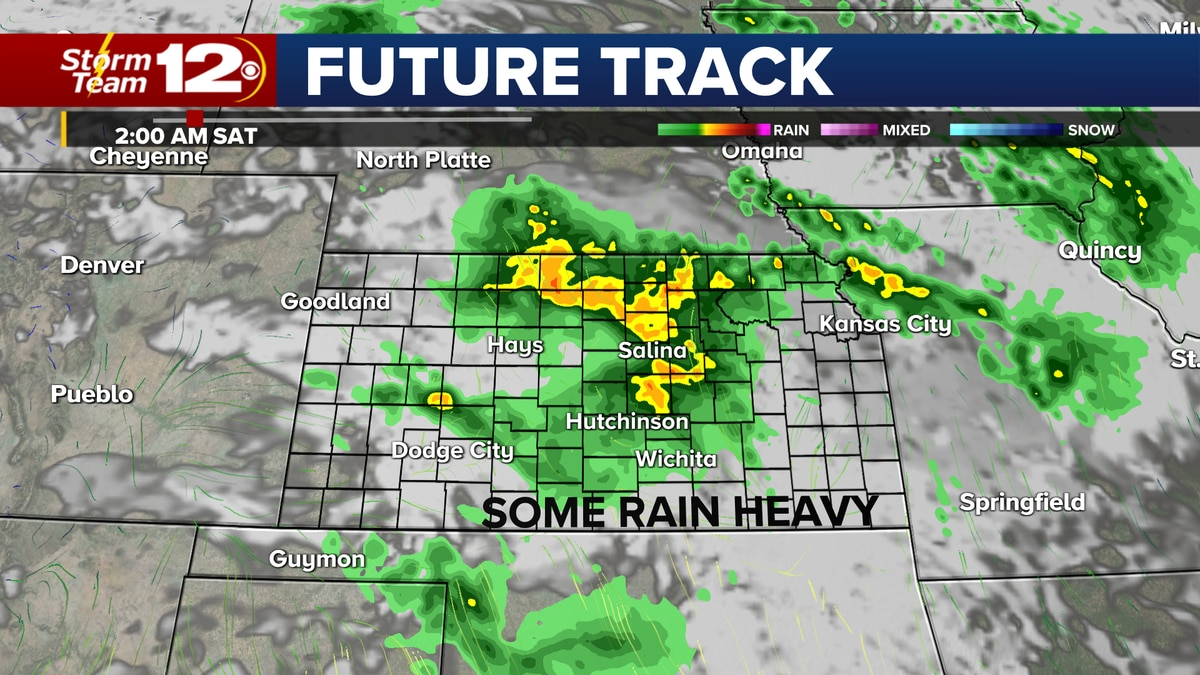 Overnight storms will cover a good part of Kansas