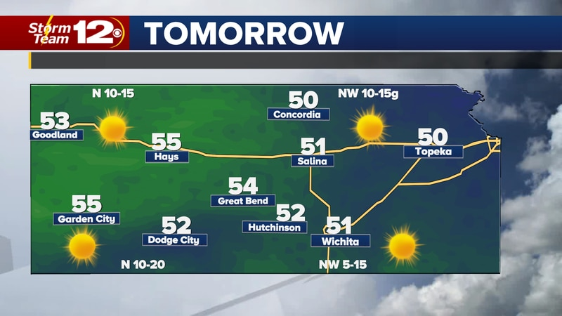 Sunshine will stick around for the weekend with highs a little warmer than normal.