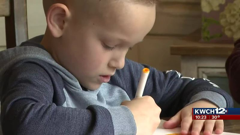 Ben Jobe makes drawings to raise money for Wichita-area children in need