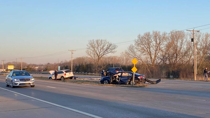 Two people were seriously injured in a crash on westbound Kellogg and 119th Street, according...