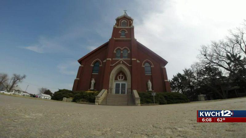 Pilsen, Kansas church