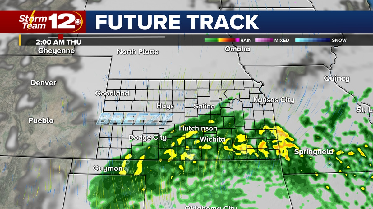 Rain continues into early Thursday