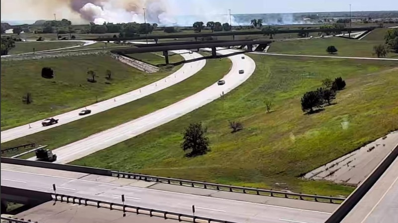 Sedgwick County dispatchers said on Wednesday crews are battling a grass fire at asphalt plant...