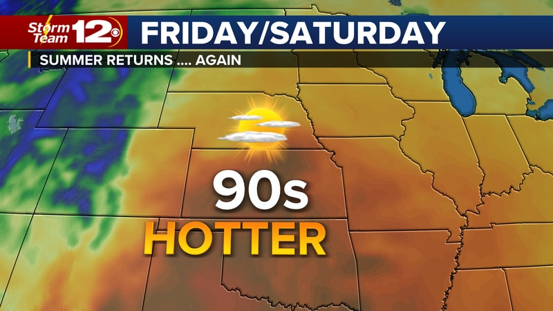 Hotter into the weekend