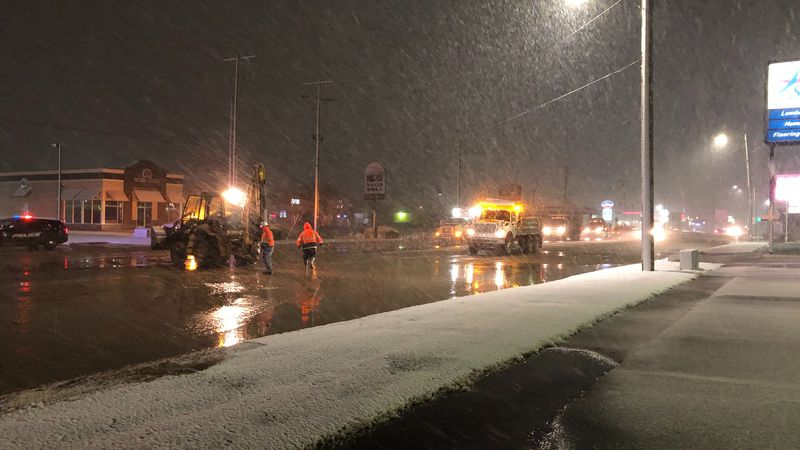 Northbound lanes of West Street at Maple are closed this morning after a water main break.