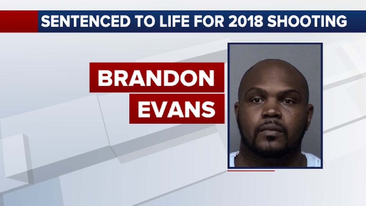 Brandon Evans was sentenced to life in prison in connection with a 2018 night-club shooting in Wichita.