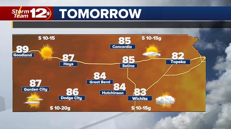 The warm weather will stick around, but sunshine won't last much longer.