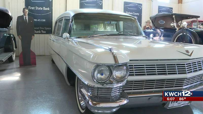 Hearse that carried JFK's casket featured at museum in Hill City, Kansas