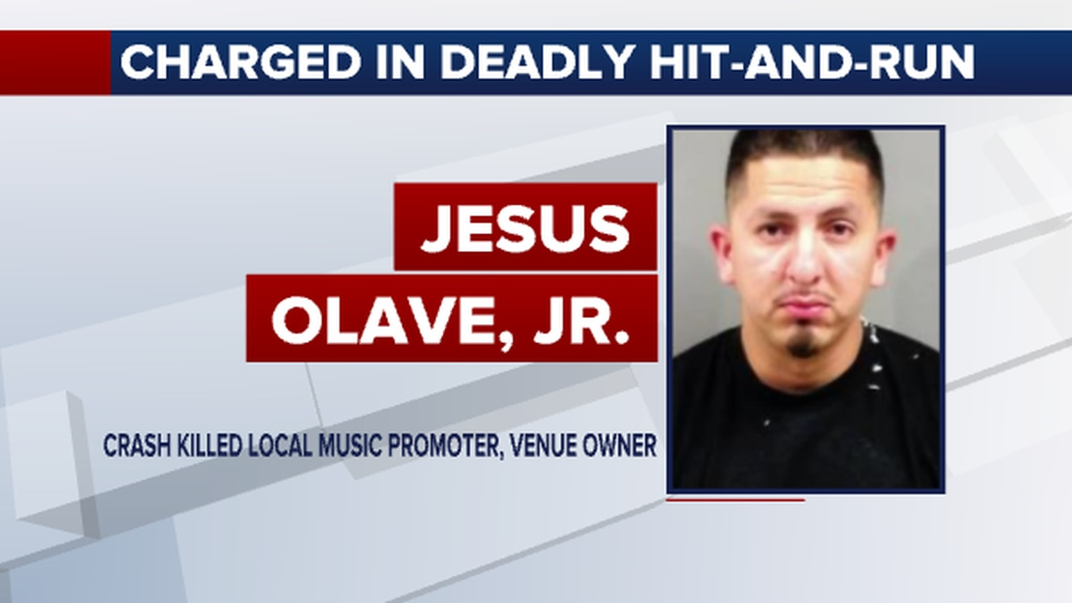 Charges against 31-year-old Jesus M Olave Jr. includes failure to stop at at an accident...