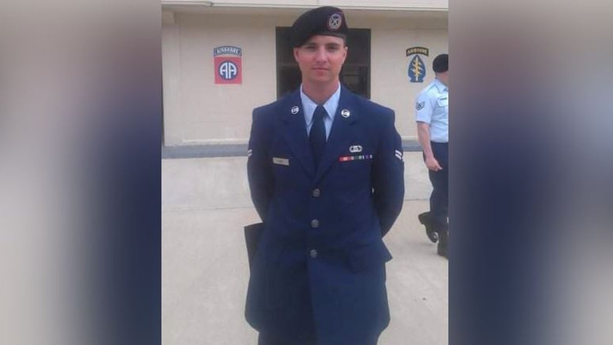 FILE - The Kansas Air National Guard identified the airman killed in a Humvee rollover at the...