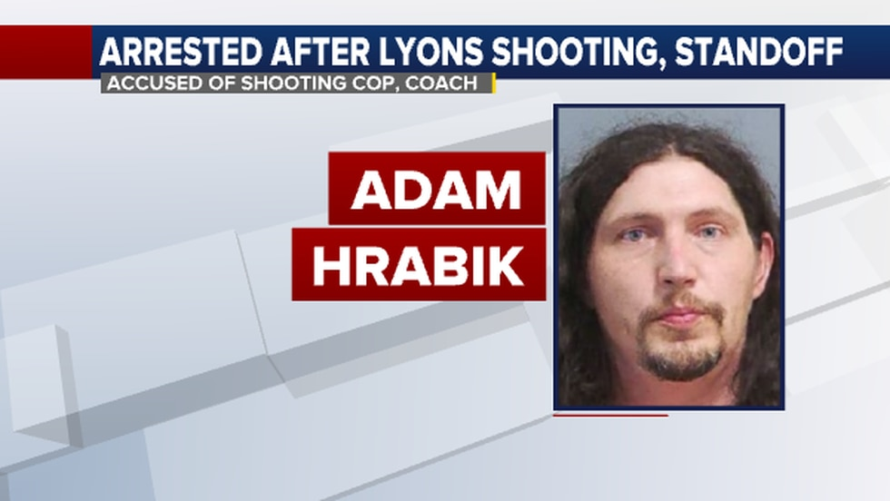 Adam Harabik was arrested after a shooting and stanoff Friday (Oct. 16) in Lyons.