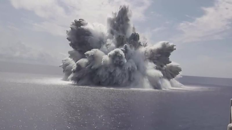 A massive explosion set off by the U.S. Navy was felt on the Richter sale.