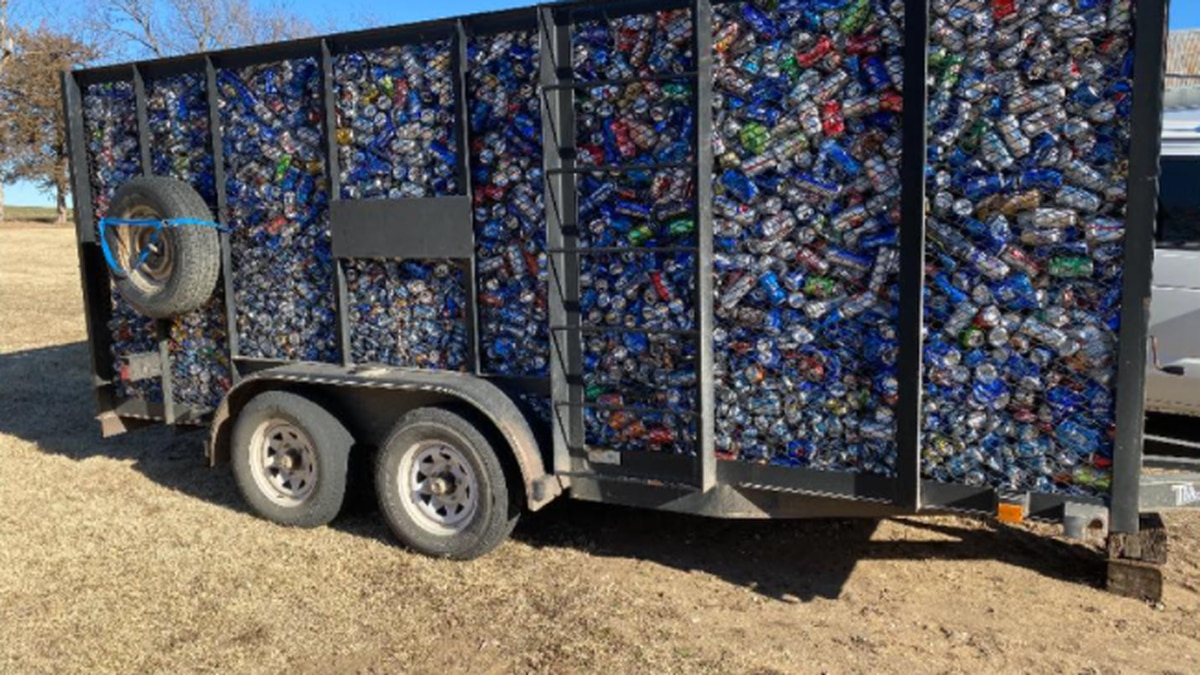 Cans for Kansas Honor Flights said it earned more than $500 from a load of aluminum cans it...