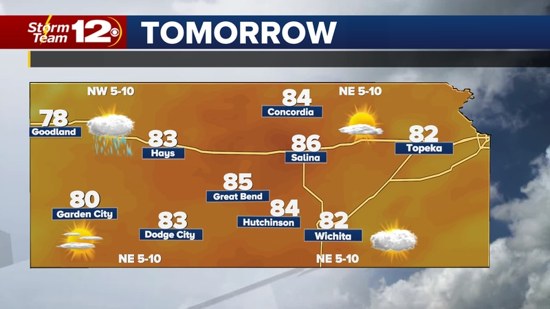 Highs will stay in the 80s through the end of the weekend, then an unsettled weather pattern...