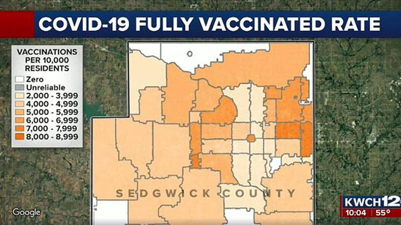 Sedgwick County vaccination map
