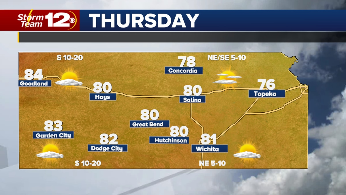 More comfortable weather is on tap for Thursday.