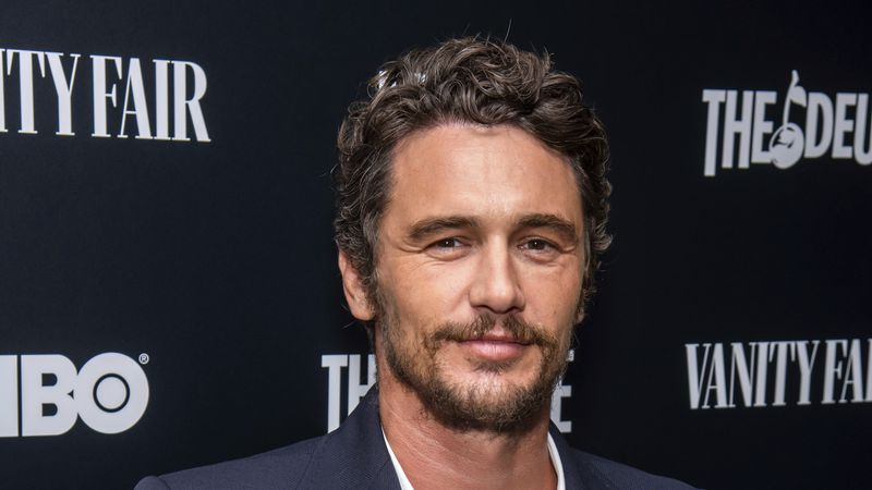"""FILE - This Sept. 5, 2019 file photo shows James Franco at the premiere of HBO's """"The Deuce""""..."""