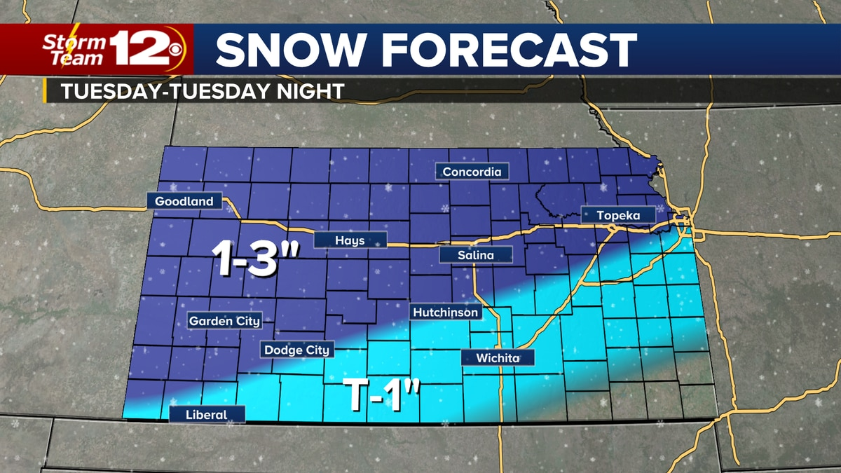More snow is expected on Tuesday.