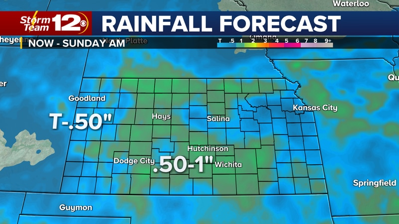 Several rounds of rain will bring some drought relief.