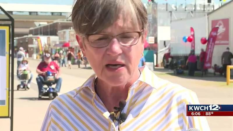 Kansas Gov. Laura Kelly at state fair