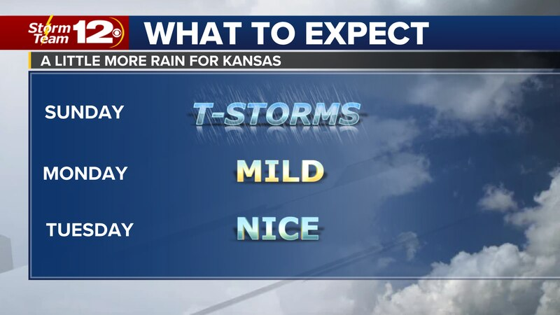 Rain chances will end at the beginning of the week.