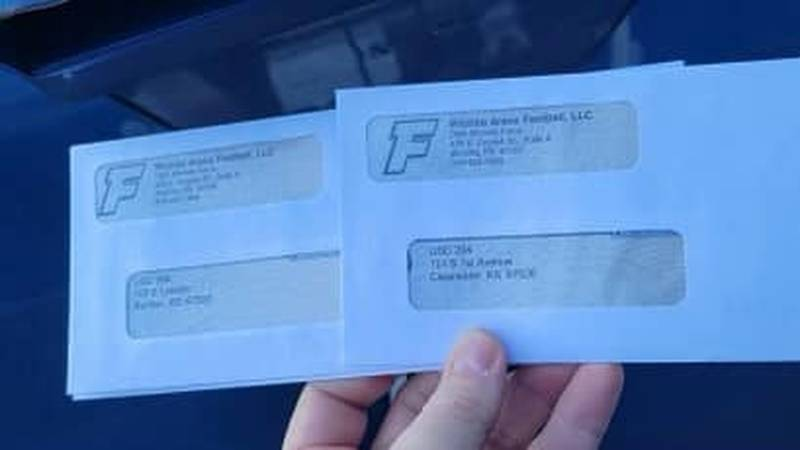 The Wichita Force sent photos of two checks it said is headed to Burrton and Clearwater high...