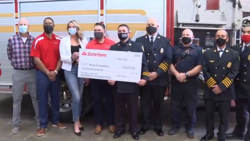 On Thursday (5/13/21), State Farm presented the Wichita Fire Department with a $5,000 to help...