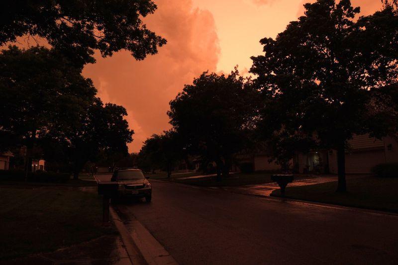 stormy night in Wichita, Kansas