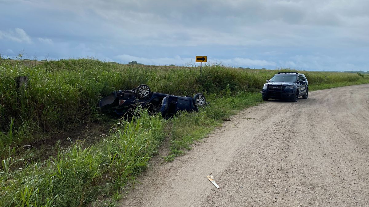 Car crashes following chase south of Wichita.