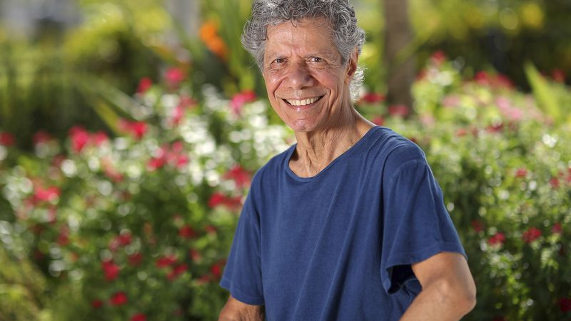 FILE - Jazz pianist and composer Chick Corea poses for a portrait in Clearwater, Fla., on Sept....