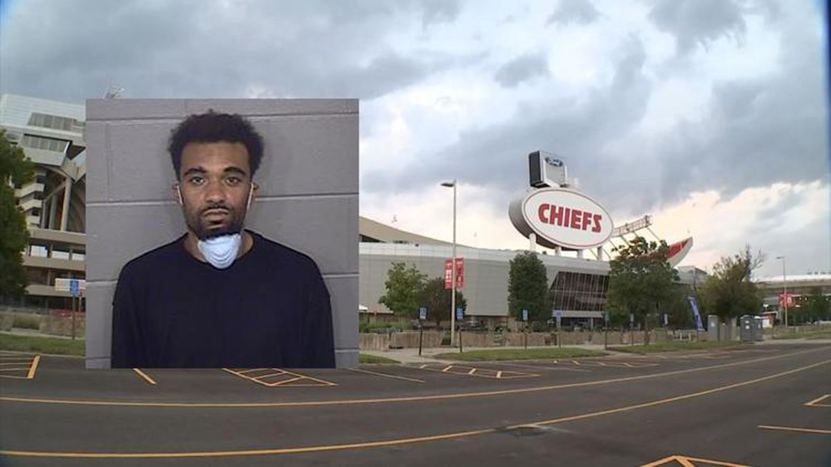 Joshua Newton, of Kansas City, Kan. faces multiple charges after a standoff Saturday at Arrowhead Stadium.